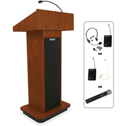 AmpliVox Wireless Executive Sound Column Lectern