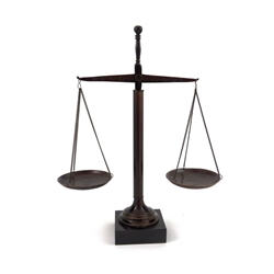 Bronzed Brass Scale of Justice