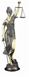 39 inch Bronze Lady Just Sculpture