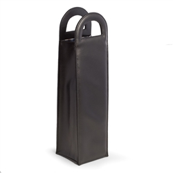Black Leatherette Caddy with Handles