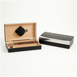 4 Cigar Holder with Cutter and Humistat