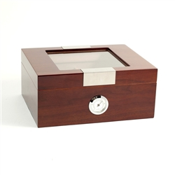 Walnut Humidor, Cedar Lined with Glass Top