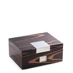 Ebony Wood Humidor, Cedar Lined