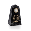 Legal Scale Marble Desk Clock