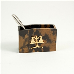 Legal Scale Desk Top Pencil and Pen Holder