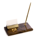 Legal Scale Business Card Holder with Pen