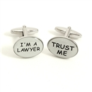 Trust Me, I'm a Lawyer Rhodium Plated Cufflinks