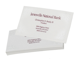 Business Cards, Blind Embossed and 1 Color