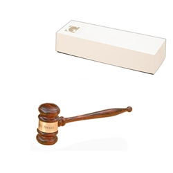 "*Imported Rosewood 10-1/2"" Standard Gavel"