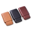 3 Cigar Leather Case, Choice of Colors