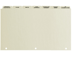 Corporation Index Tabs, Standard