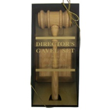 Oak Style Director's Gavel Boxed Set