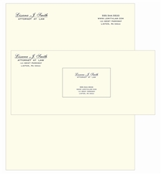 Crane's Crest Genuine Steel Die Engraved Stationary Package, Letterhead, Envelopes, Business Cards