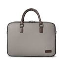 Contrast Briefcase Vegan Leather