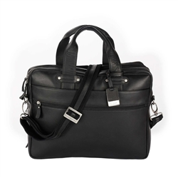 Columbian Leather Double Compartment Briefcase
