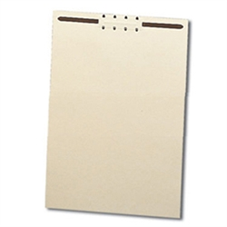 File Backers Heavy Duty Straight Cut, Letter Size with Fasteners