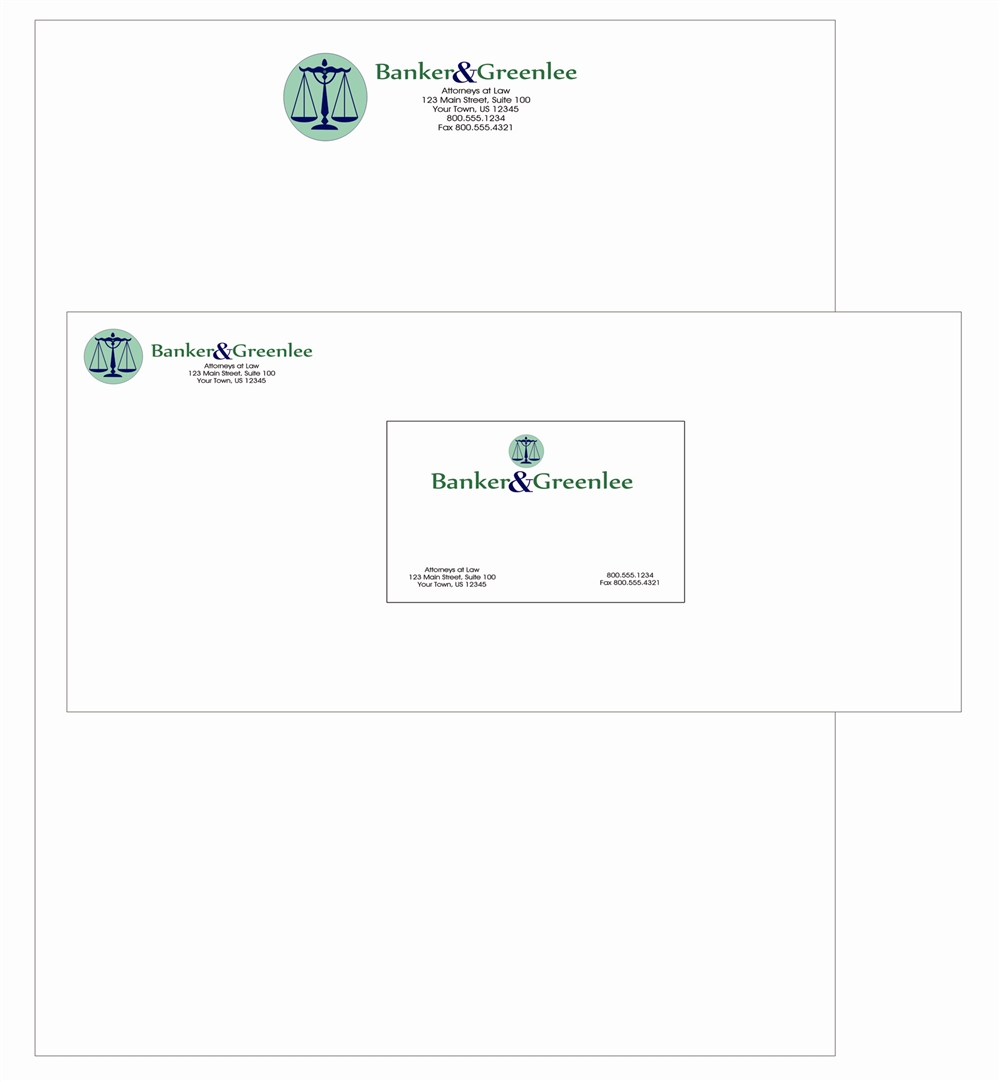 Crest Full Color Thermographed Print Stationary Package, Letterhead ...