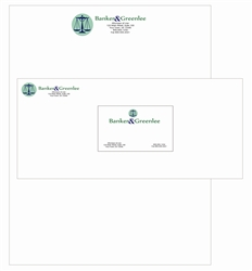 Classic Crest Full Color Thermographed Print Stationary Package, Letterhead, Envelopes, Business Cards