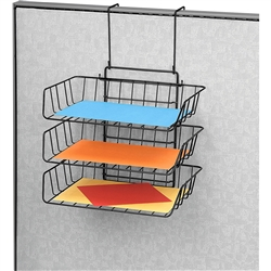 Fellowes Wire Partition Additions™ Triple Tray