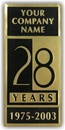 Gold Foil Embossed Anniversary Labels, Customized