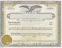 Goes® Eagle Shares Text Stock Certificates, 100 pack
