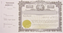 Goes® Texas Stock Certificates