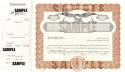 Goes® Eagle Capital Text Stock Certificates, Brown Border