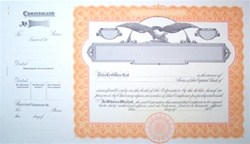 Goes® Blank Corporation Stock Certificates