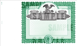 Goes® Eagle Stock Certificates with Stub