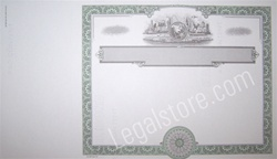 Goes® Blank Corporation Stock Certificates with global