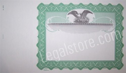 Goes® Blank Stock Certificates