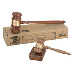 "*Large Novelty Gavel, 24"" Rock Maple"