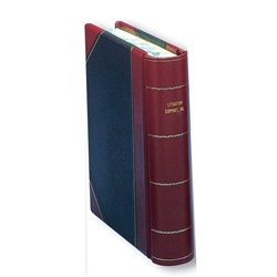 Hylson Minute Book Halfbound Imitation Leather