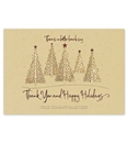 Warm Woodland Holiday Greeting  Thank You Cards