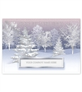 Flurries At Dusk Holiday Greeting Cards