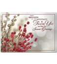 Tidings of Appreciation Holiday Greeting Cards Imprinted