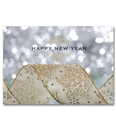 Personalized New Year Glitter Holiday Greeting Cards and Envelopes