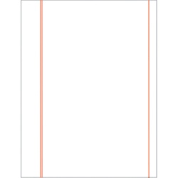 Letter Size, 20lb. Cotton Bond, Red Ruled Paper