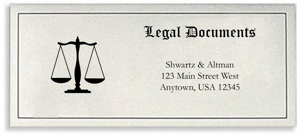legal document envelope customized