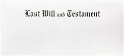 Last Will & Testament Document Envelope, White Marble
