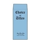 Blue Wove Envelopes, Customized with Title