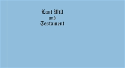 Legal Size Blue Vellum Last Will & Testament Covers