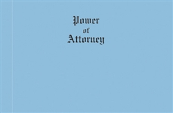 Legal Size Blue Wove Power of Attorney Covers