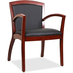 Lorell Arched Arms Wood Guest Chair - Cherry