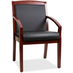 Lorell Sloping Arms Wood Guest Chair - Cherry