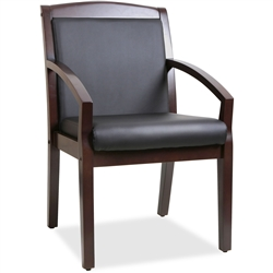 Lorell Sloping Arms Wood Guest Chair - Espresso