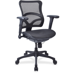 Lorell Full Mesh Mid-back Chair - Black