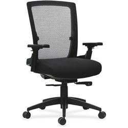 Lorell 3D Rotation Armrests Mid-back Chair