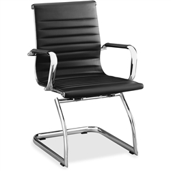 Lorell Modern Chair Mid-back Leather Guest Chair