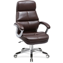 Lorell Brown Bonded Leather High-back Chair